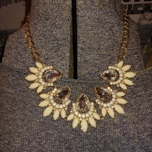 Faux Big Diamond Sparkly Necklace